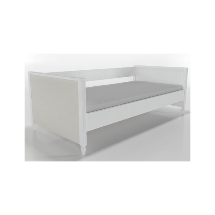 W Cama Sofá Tudor Branca Com Estofado - Timber Móveis