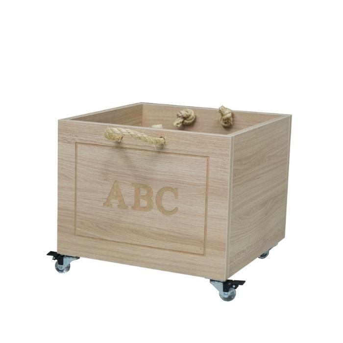 Y Caixa Organizadora Brinquedos Com Alças- Carvalho Treviso - Divicar Móveis