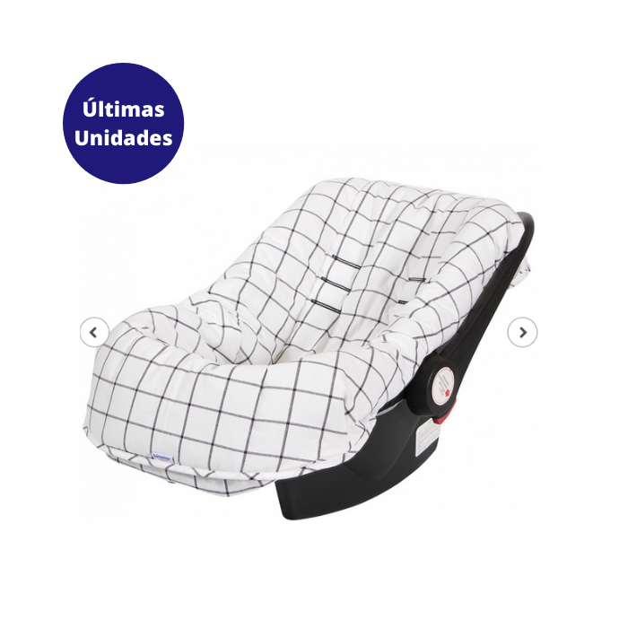 Z - Capa Para Bebê Conforto Ajustável Estampa Boston Preto - Biramar
