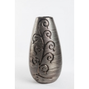 Vaso bronze escuro com textura