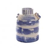 Vaso cerâmica manchado
