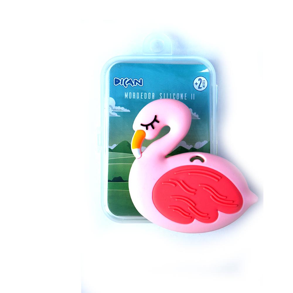 Mordedor com Estojo II Dican - Flamingo