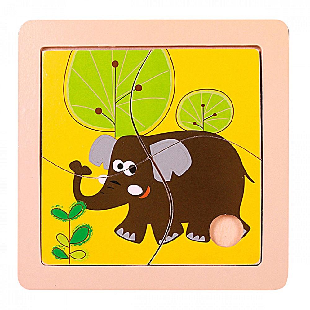 Quebra-Cabeça | Elefante (4 Peças)