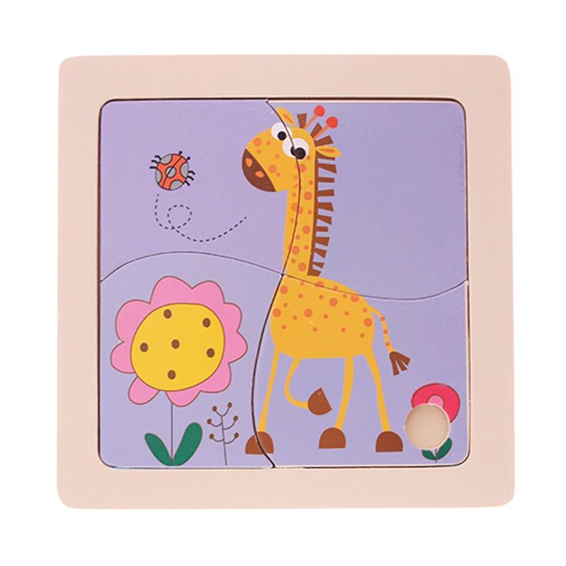 Quebra-Cabeça | Girafa (4 Peças)