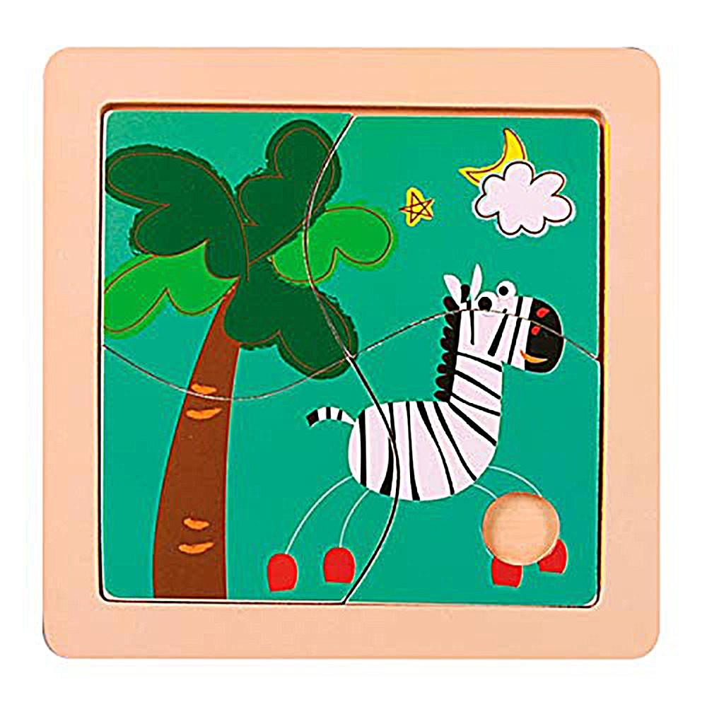 Quebra-Cabeça | Zebra (4 Peças)