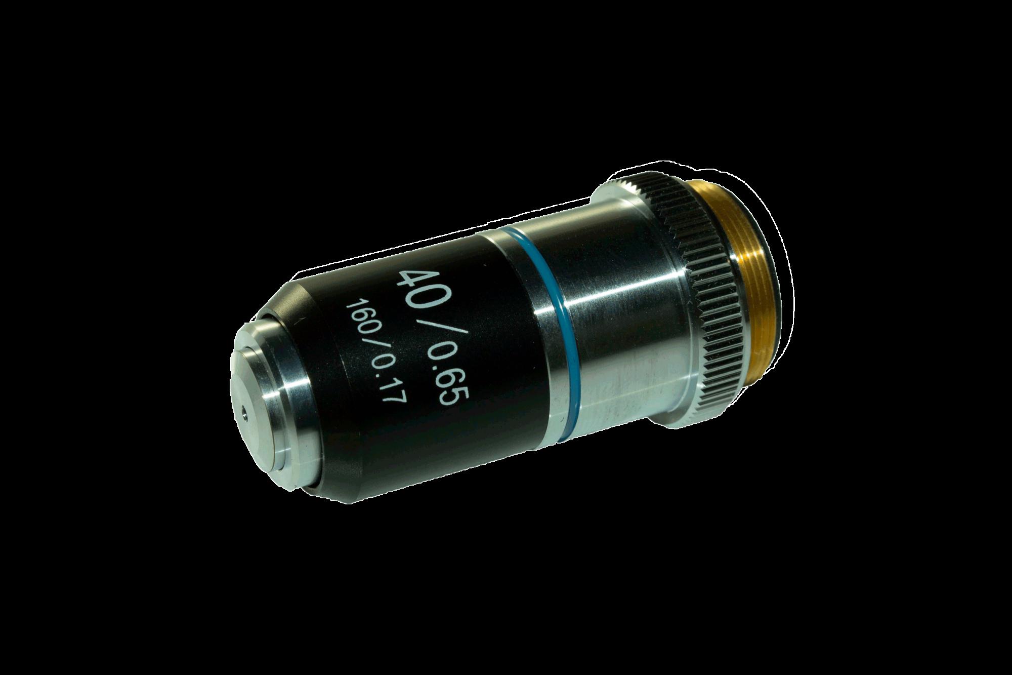 Lente Objetiva para Microscópio BEL Acromática 40x 160MM