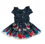 Vestido Luluzinha - Estampa Casinhas e Flores