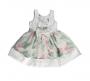 Vestido Luluzinha - Estampa Flores com Tule