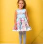 Vestido Luluzinha - Regata Estampado Com Laço nas Costas