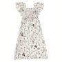 Vestido Midi Infantil Estampado Com Latex Hering Kids - Branco