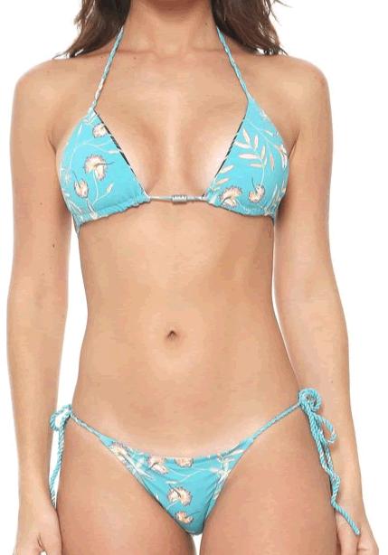 Biquini Roxy Bird Flowercort- Dupla Face  - Ondas do Sul