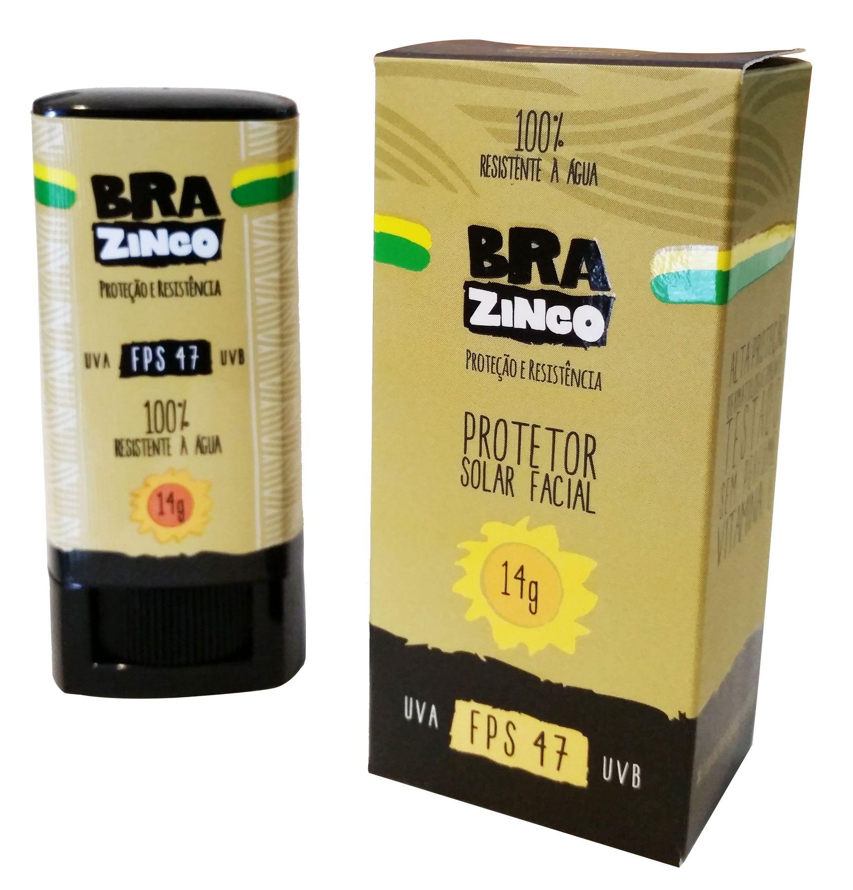 BRAZINCO Protetor solar 14g FPS47  - Ondas do Sul