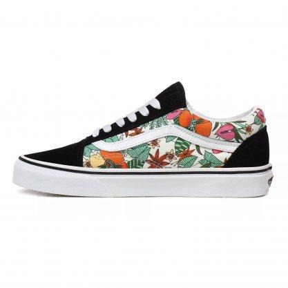 Tênis Vans Old Skool Preto/Floral  - Ondas do Sul