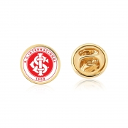 Pin 2 cm SCI Internacional  Pacote Com 10 Unid. Folheado Ouro 18K