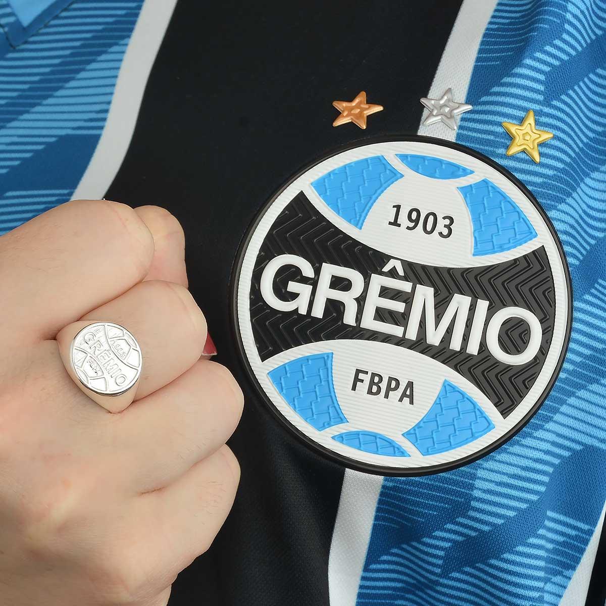 Anel Grêmio Unissex Prata 925