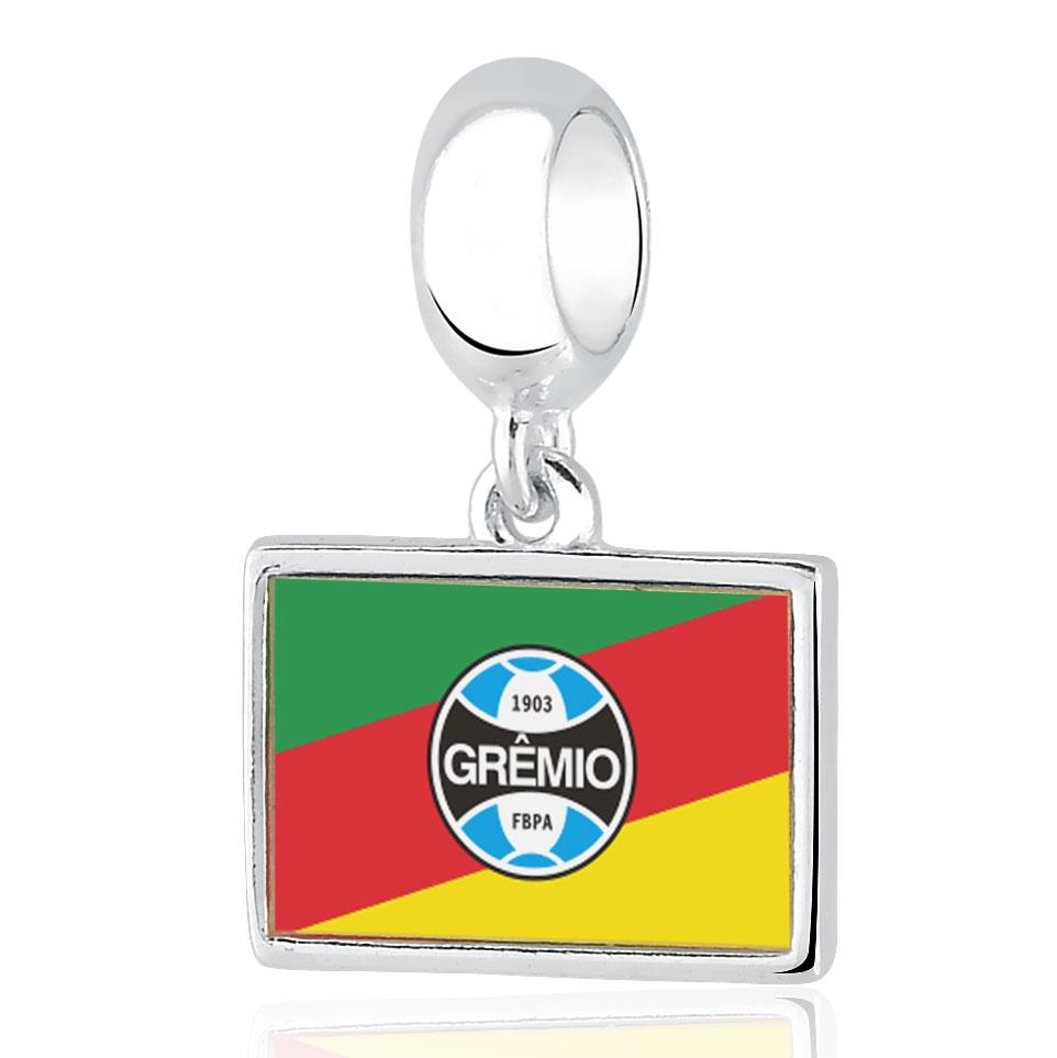 Berloque Grêmio Bandeira RS Prata 925