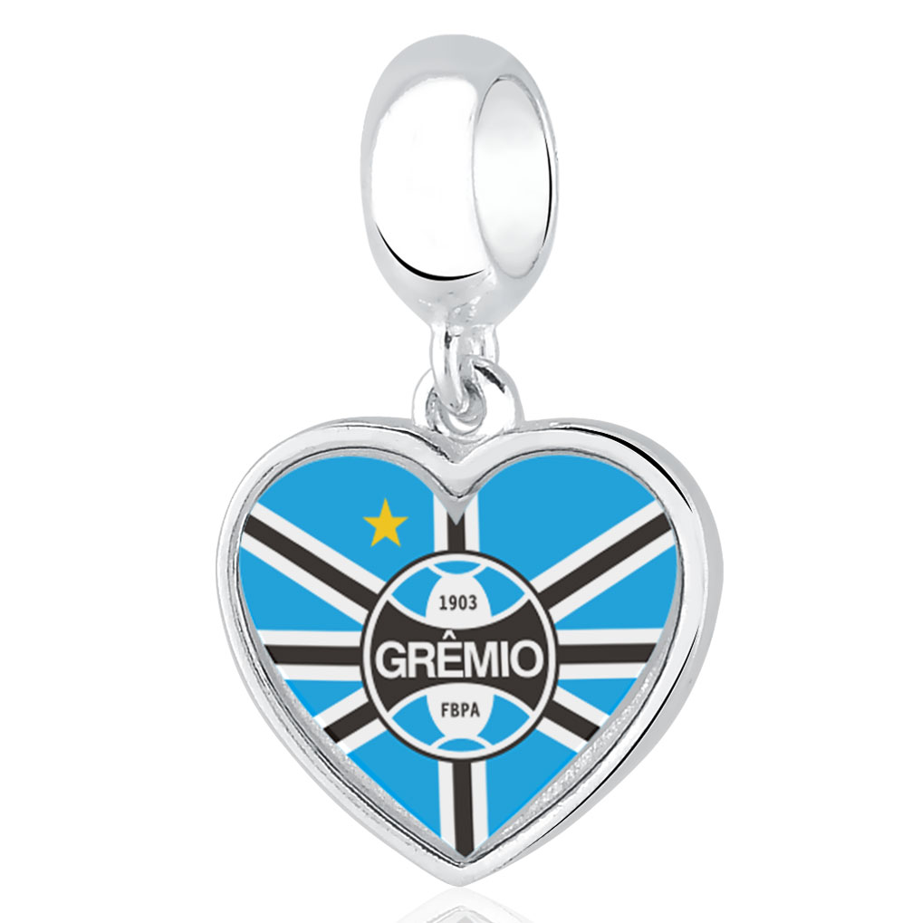 Berloque   Grêmio Coração Prata 925