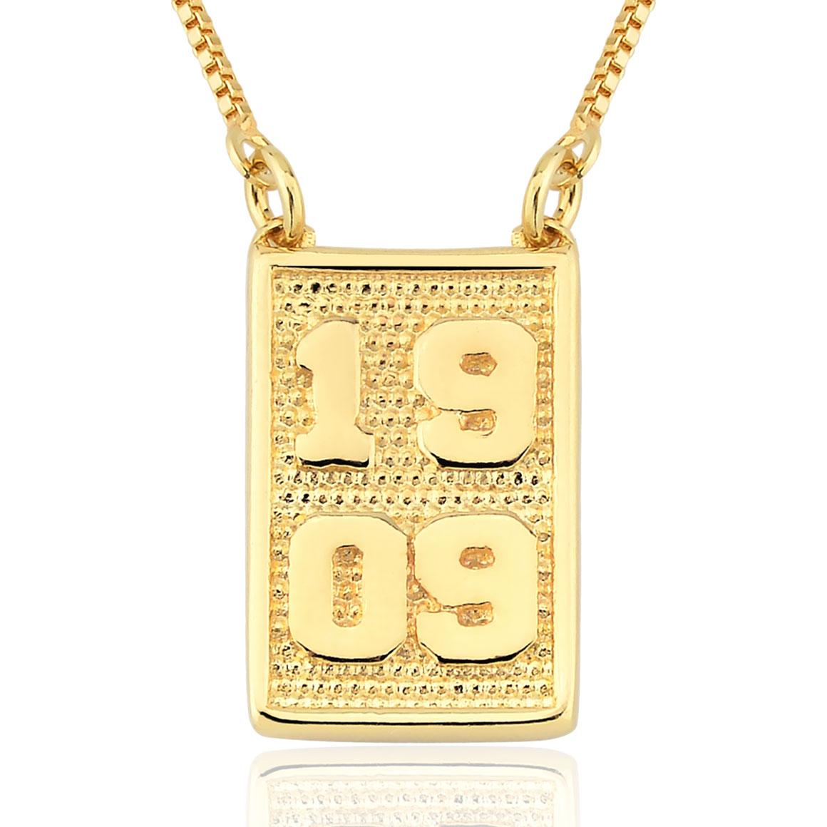 Escapulário 1909 Folheado Ouro 18k INFANTIL