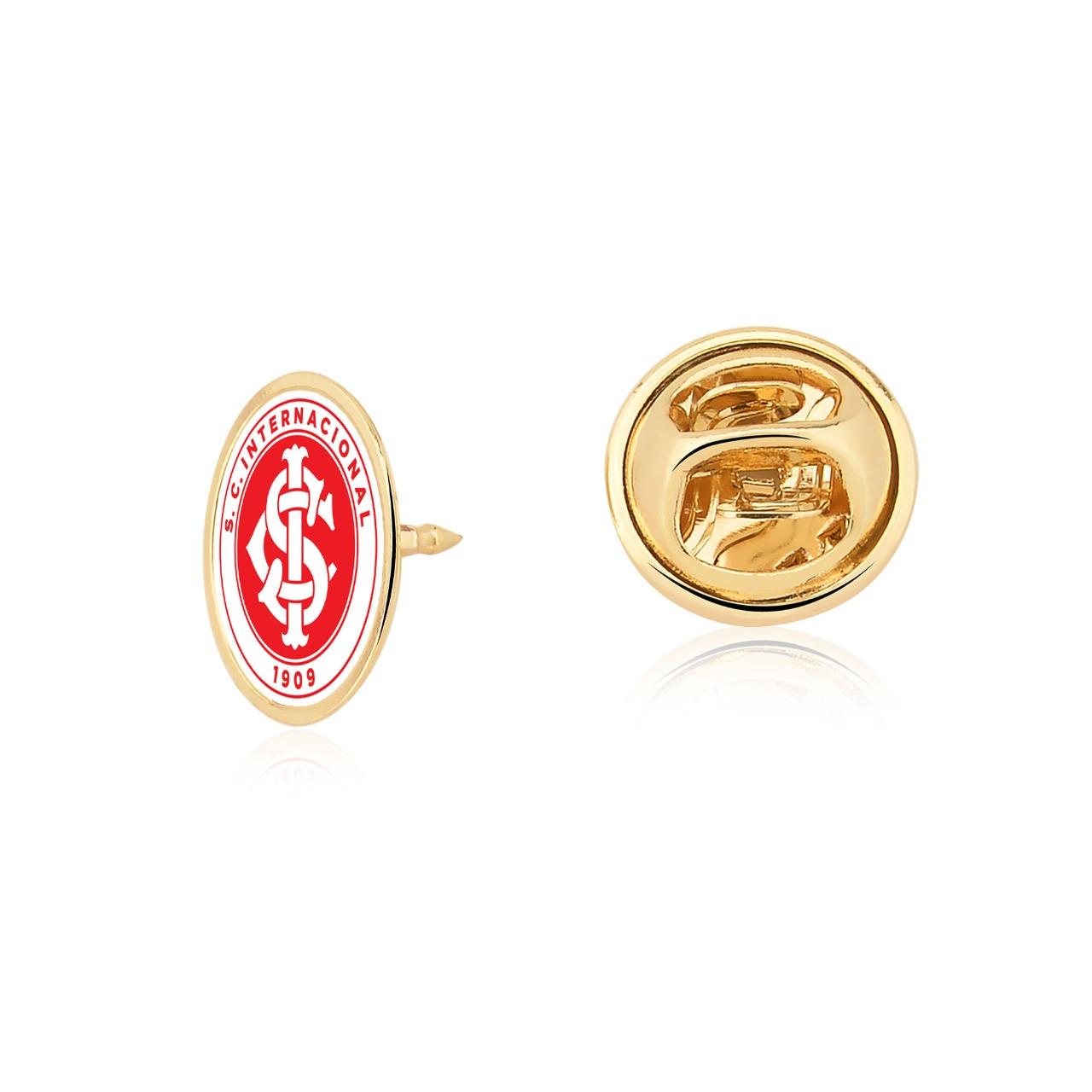 Pin 1 cm SCI Internacional Folheado Ouro 18k