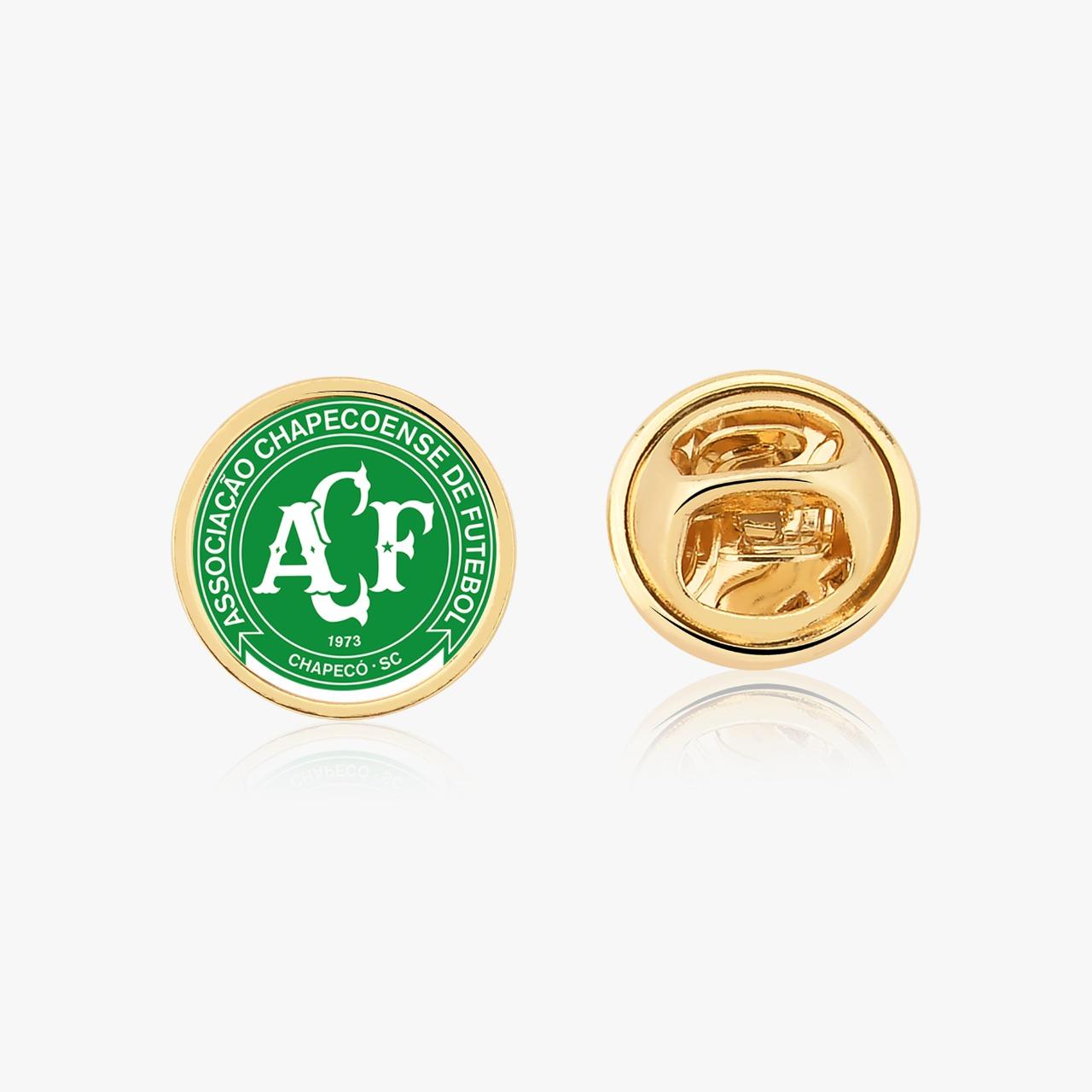 Pin 2 cm Chape Folheado Ouro 18k
