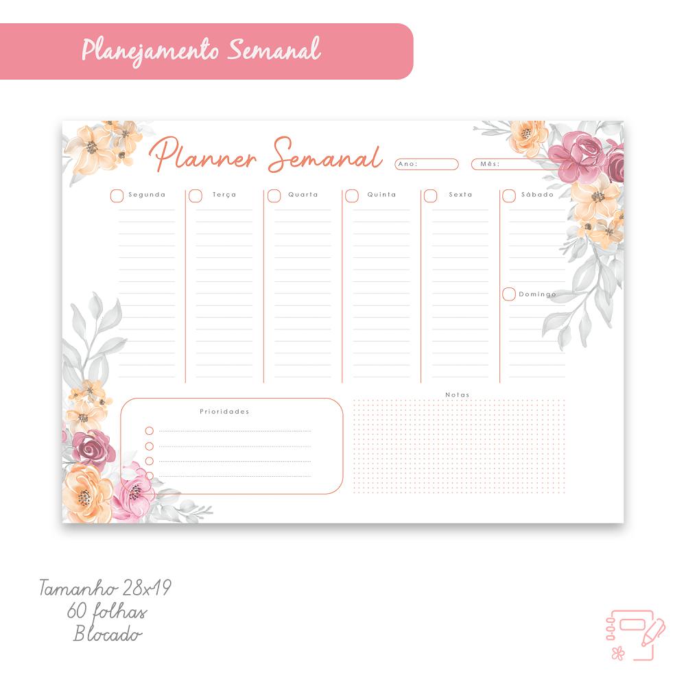 Planejamento Semanal floral