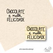 Carimbo Chocolate e felicidade  - Pandoca