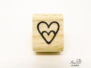 Carimbo Coração com coração dentro