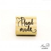 Carimbo Hand Made agulha coração