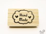 Carimbo Hand made com dois corações