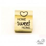 Carimbo Home sweet home coração