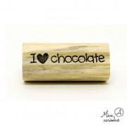 Carimbo I love chocolate