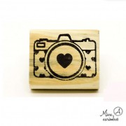 Carimbo Máquina fotográfica coração