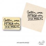 Carimbo Pitada de amor - Pandoca