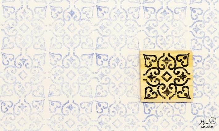 Carimbo Azulejo 11