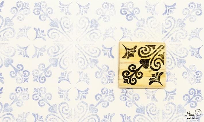 Carimbo Azulejo 14