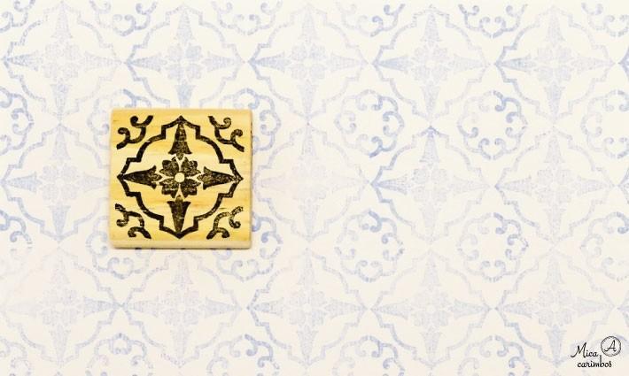 Carimbo Azulejo 15