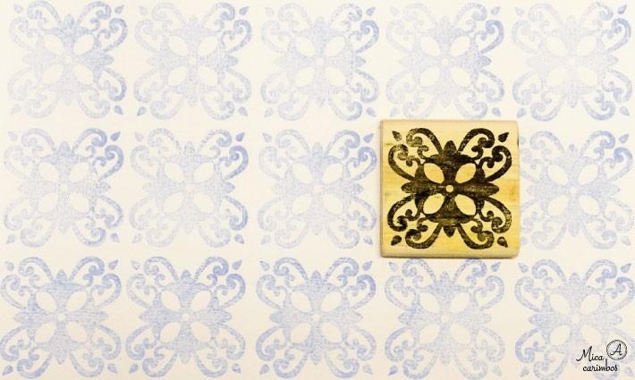 Carimbo Azulejo 18