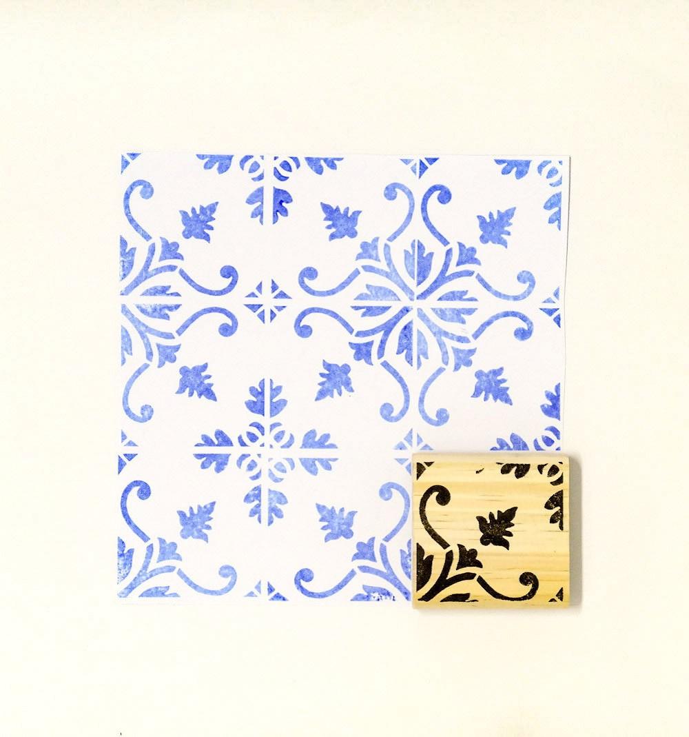 Carimbo Azulejo 1
