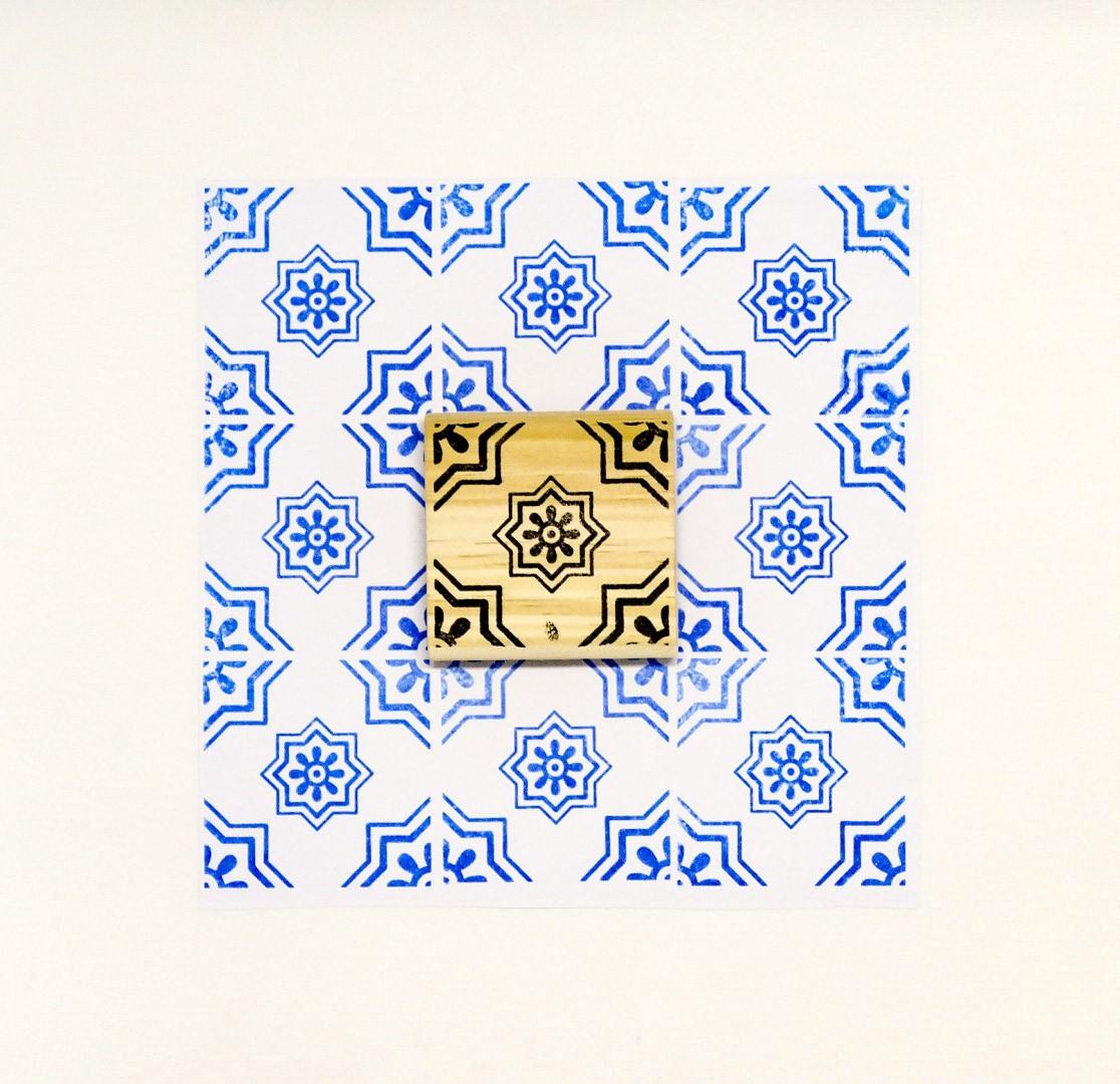 Carimbo Azulejo 4