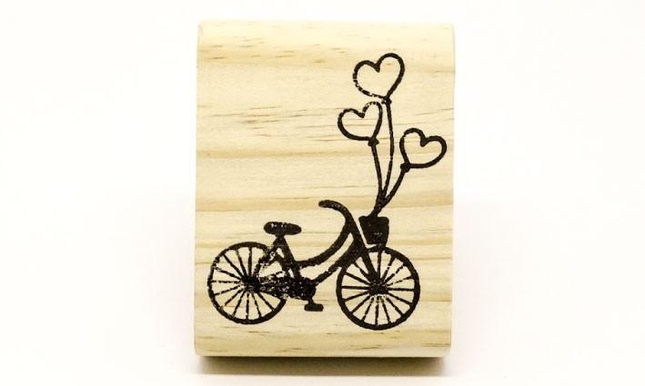 Carimbo Bicicleta coração
