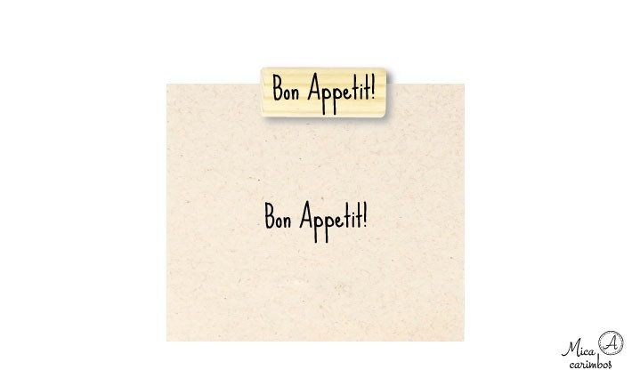 Carimbo Bon Appetit! - Pixu