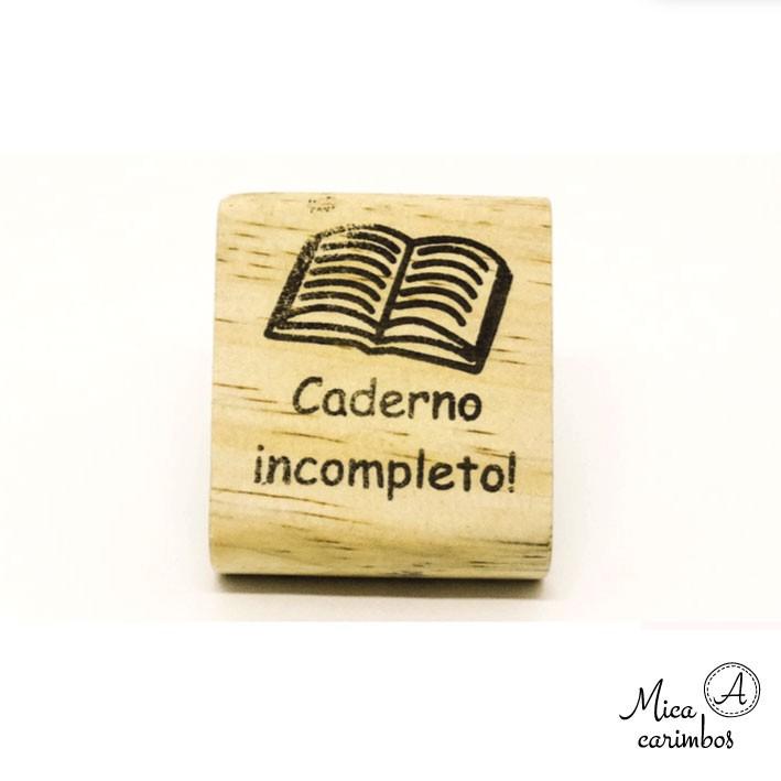 Carimbo Caderno incompleto