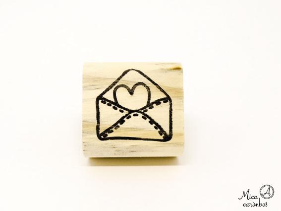 Carimbo Carta Coração
