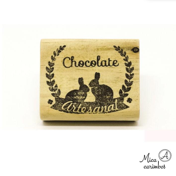 Carimbo Chocolate artesanal coelhos