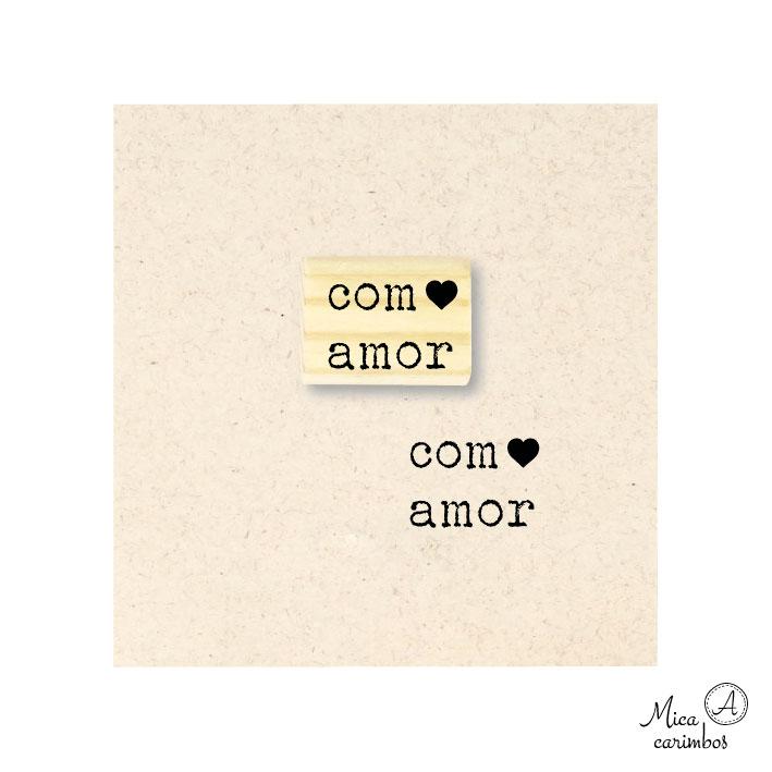 Carimbo Com amor coração