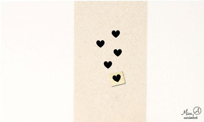 Carimbo Coração fechado P