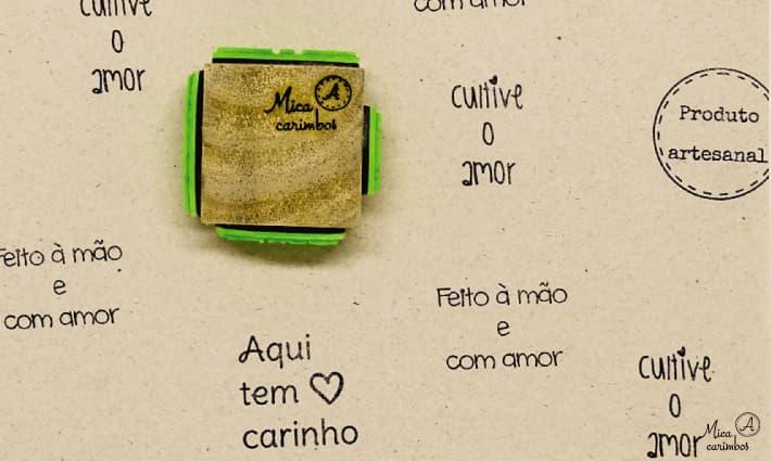 Carimbo Cubo 4 em 1 artesão 2