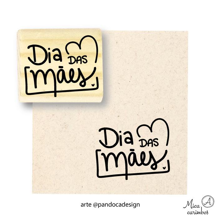 Carimbo Dia das mães cora - Pandoca
