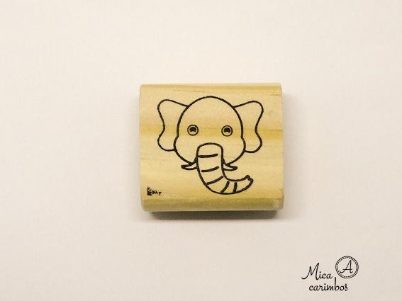 Carimbo Elefante - Animais