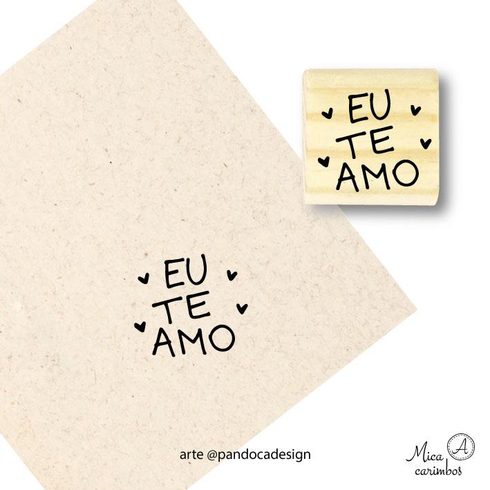 Carimbo Eu te amo corações - Pandoca